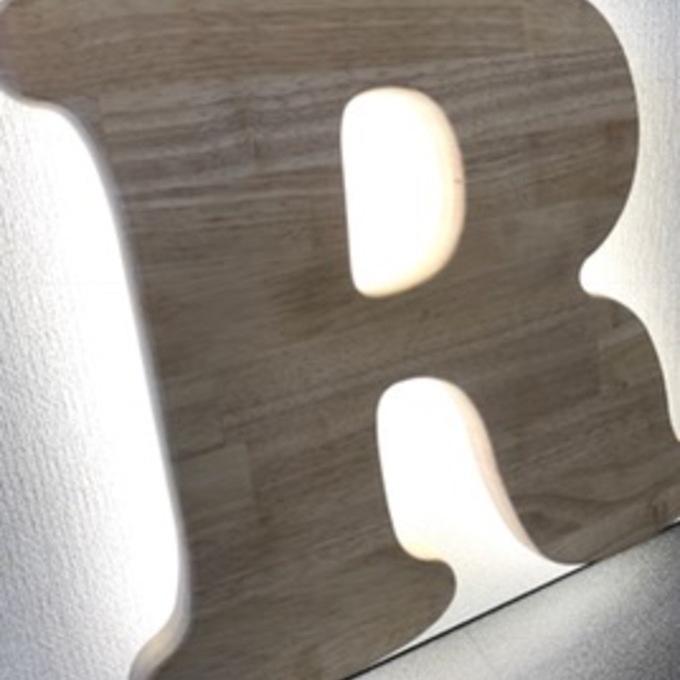 LEDウッドサイン